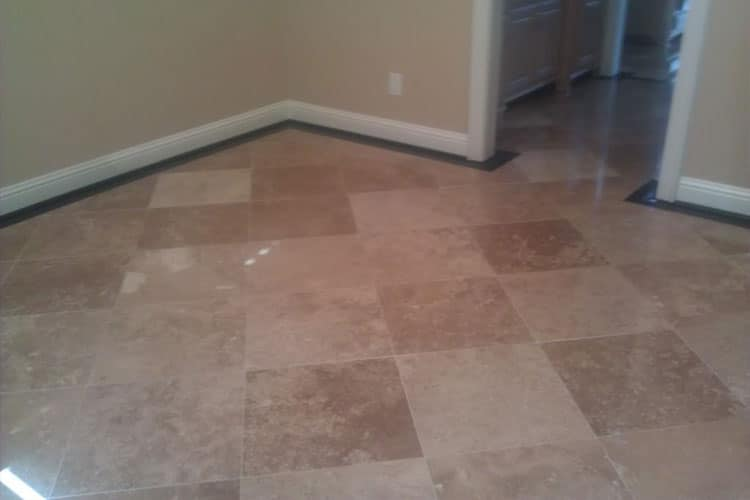 Indoor and Outdoor Travertine Restoration in Houston
