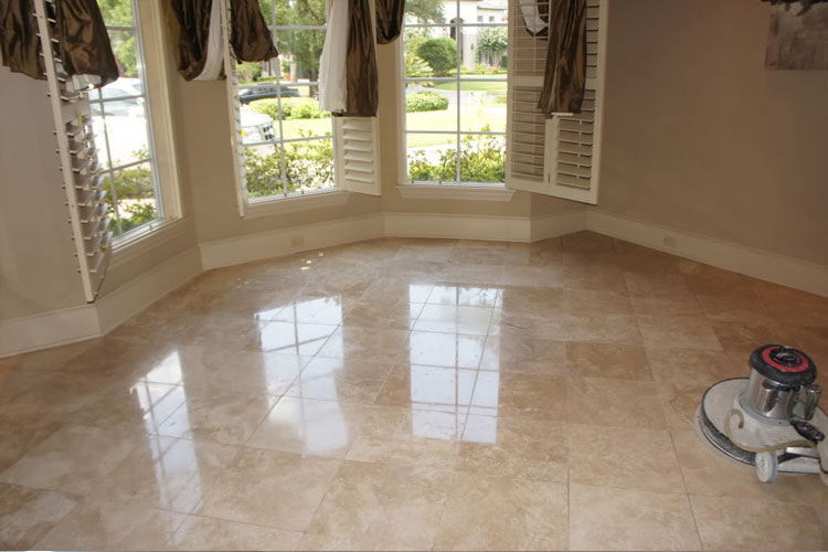Honed, unfilled, rustic or tumbled travertine floors require a maintenance  plan to keep them looking as nice as possible. This should consist of dry  dust ...