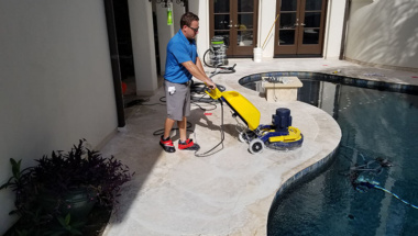 Poolside Natural Stone Cleaning and Sealing