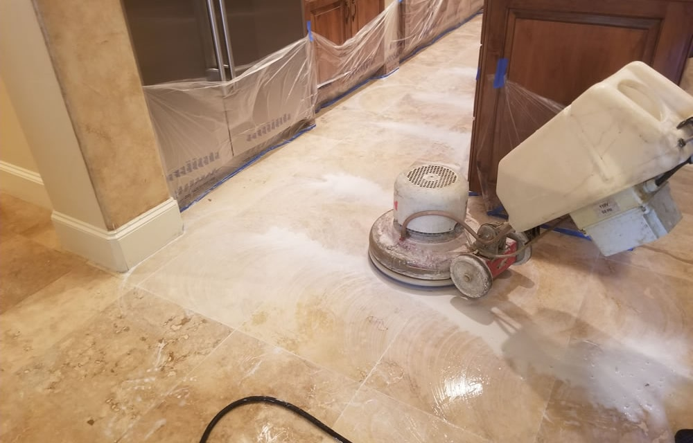 Coronavirus Stone Floor Cleaning in Houston